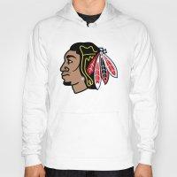 blackhawks Hoodies featuring Blackhawks Inspired D Rose by beejammerican