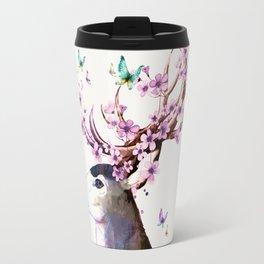 Deer and Flowers II Travel Mug