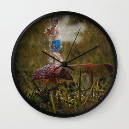 Azzie Rain Fairy Wall Clock