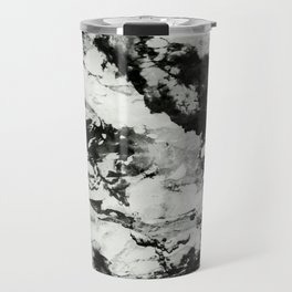 White black marble Travel Mug