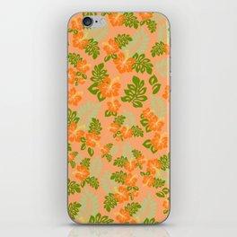 Hawaiian Pattern - Orange iPhone Skin