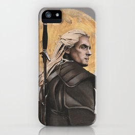 Witcher - Geralt of Rivia - oil painting print iPhone Case