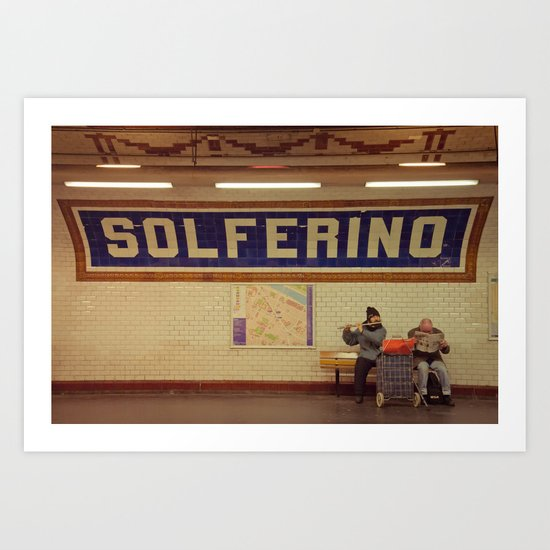 A Moment in Solferino  Art Print