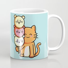 Kawaii Cute Cat and Micecream Coffee Mug