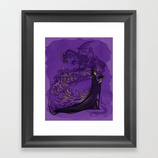 Something Wicked this way Comes... Framed Art Print