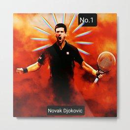 Novak Djokovic,tennis player No.1 Metal Print