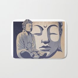 Zen Buddha: Awakened and Enlightened One Bath Mat