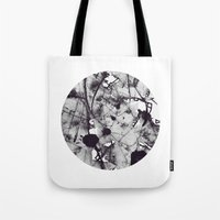 noir Tote Bags featuring Noir by deniz ayaz