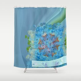 Paradoxism Being Flowers  ID:16165-073708-09691 Shower Curtain
