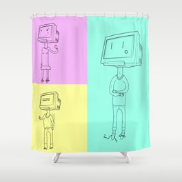 LAN Party Shower Curtain