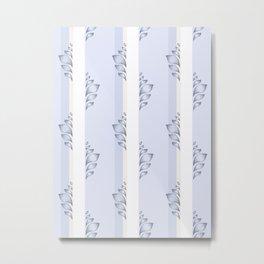 Moving Upwards - Blue Metal Print