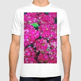 Hot Pink Hydrangeas, Nature Photography T-shirt