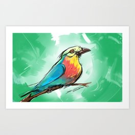 A Song Upon a Branch Art Print