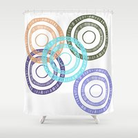 bianca Shower Curtains featuring Bianca Circle by Ellie And Ada
