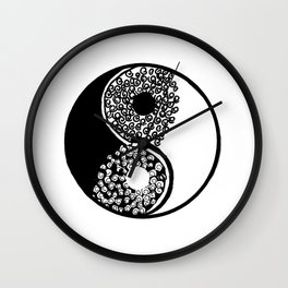 Yin Yang Waves Wall Clock