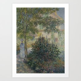 Camille Monet in the Garden at Argenteuil Art Print