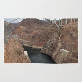 Lake Mead Spillway And Memorial Bridge Rug