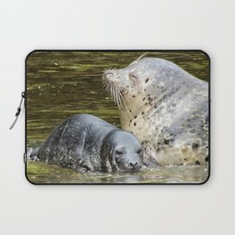 Harbor Seal Sweetness Laptop Sleeve