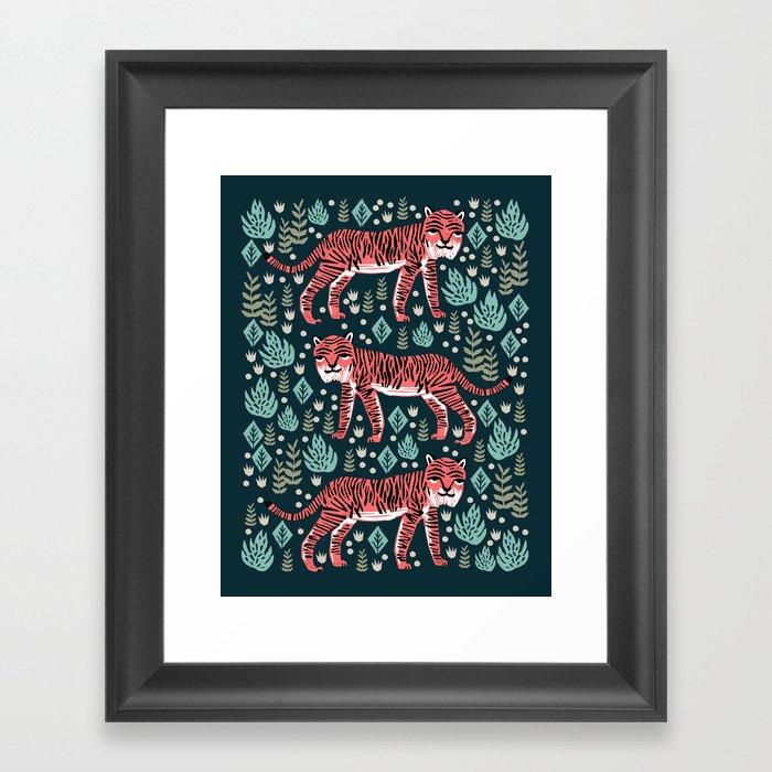 Safari Tiger by Andrea Lauren  Gerahmter Kunstdruck