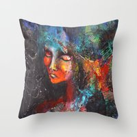 africa Throw Pillows featuring Africa. by phuong (Ong Ngoc Phuong)