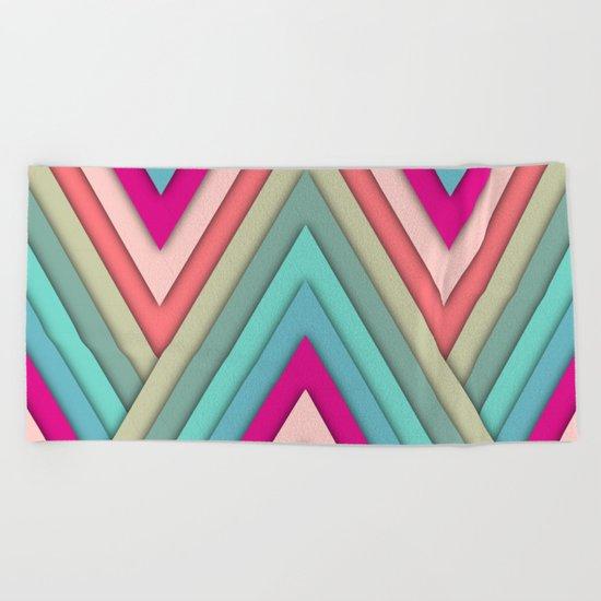 triangles pop Beach Towel