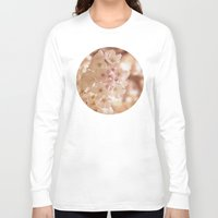 blush Long Sleeve T-shirts featuring Blush Blooms by A Wandering Soul