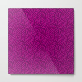 Pink-On-Pink Zebra Stripes Metal Print