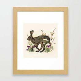 The Garden Hare Framed Art Print