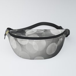 Bokeh Light In Black And White #decor #society6 Fanny Pack
