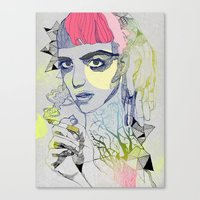 grimes Canvas Prints featuring Grimes by Jasmine Jean