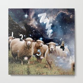 Counting Sheep II Metal Print