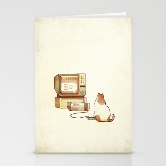 NES Cat  Stationery Cards