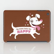 Dog kisses iPad Case