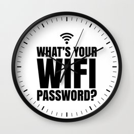 What's Your WiFi Password? Wall Clock