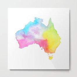 Australia | Map Illustration Metal Print