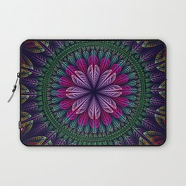 Summer mandala with fantasy flower and petals Laptop Sleeve
