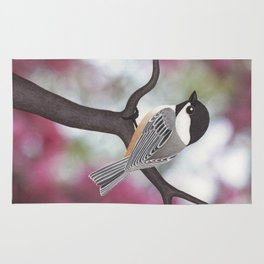 Wiley the black-capped chickadee Rug