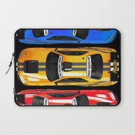 Exclusive poster with sports cars. Laptop Sleeve