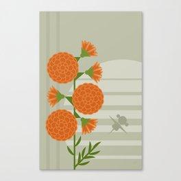 Flowers & Shuttles: Marigold Canvas Print