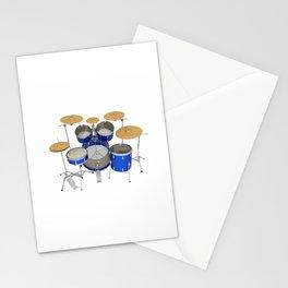 Blue Drum Kit Stationery Cards
