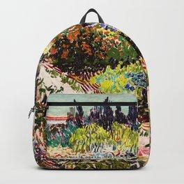 Vincent Van Gogh Flowering Garden Backpack