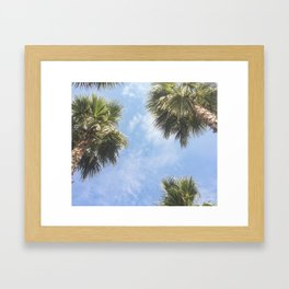 The sun and the palms Framed Art Print