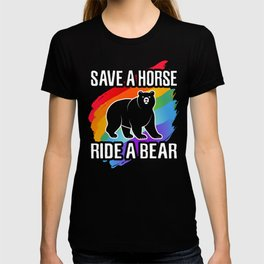 Save a Horse Ride a Bear, LGBT Gay Pride Homosexuality T-shirt