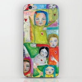 Heart Speak by kae pea iPhone Skin