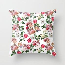Seamless Floral Pattern Throw Pillow