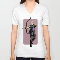 clint barton V-neck T-shirts featuring Clint by Shop 5