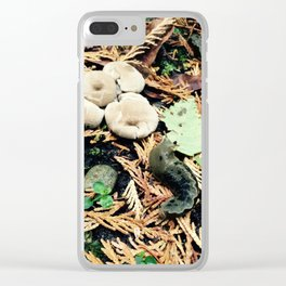 Slugs and Mushrooms Clear iPhone Case
