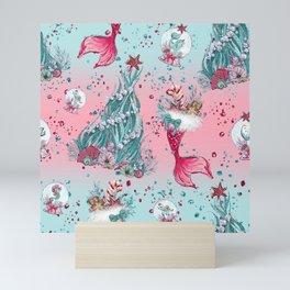 Christmas Mermaid Patterns 12 Mini Art Print