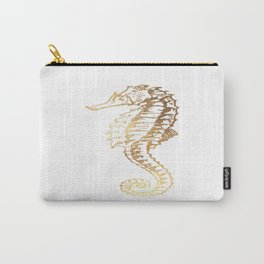 Gold Sea Horse Carry-All Pouch