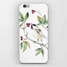 Chickadee on a tree! iPhone Skin